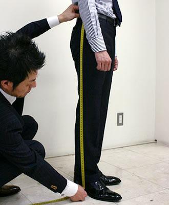 採寸:スボン総丈